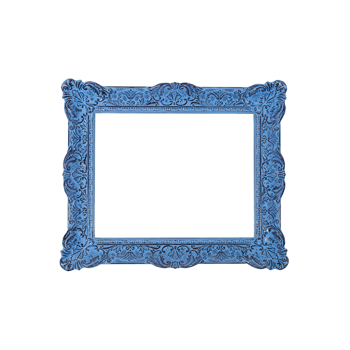 French frame, blue