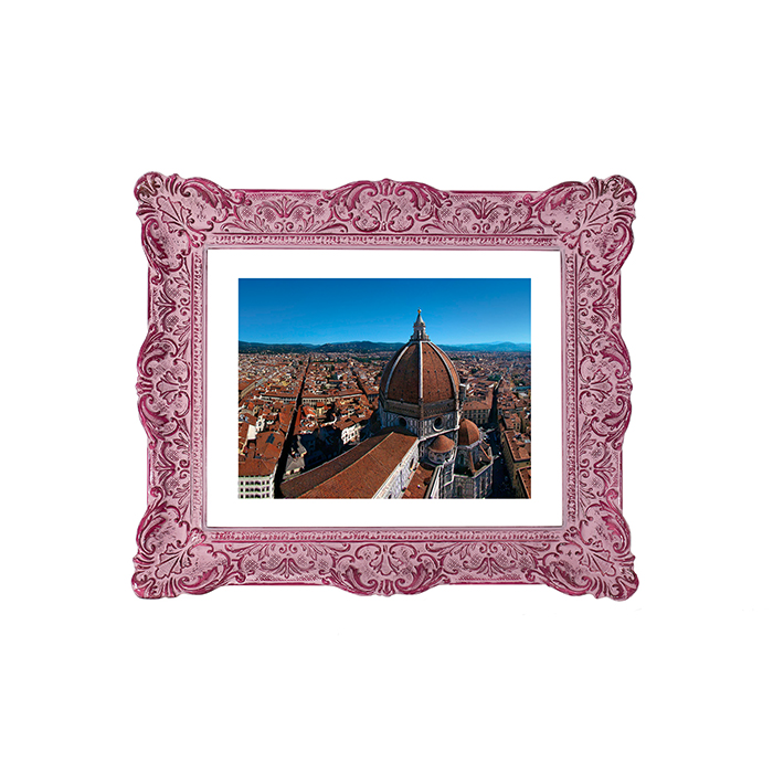 French frame, violet