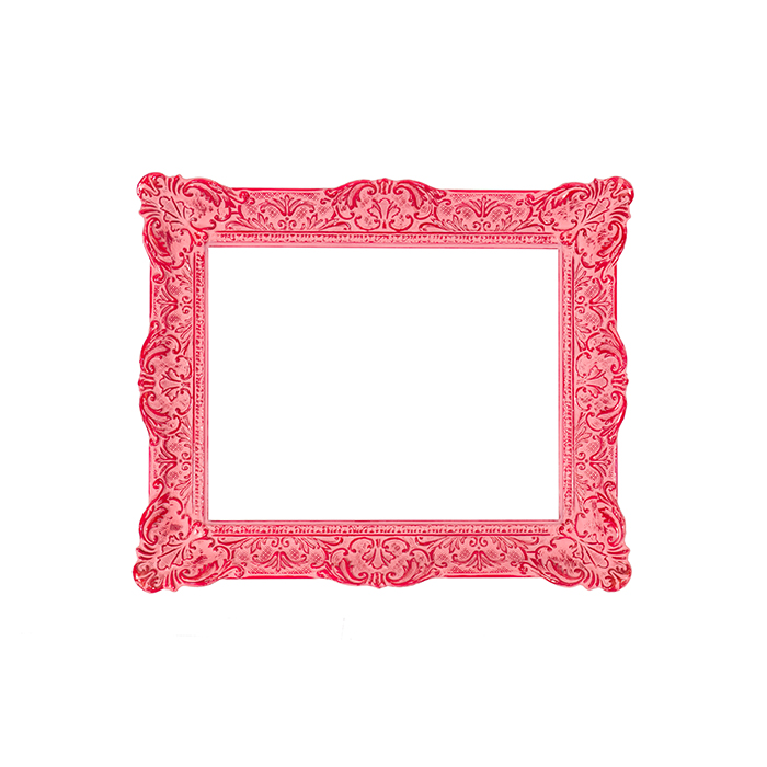 French frame, pink