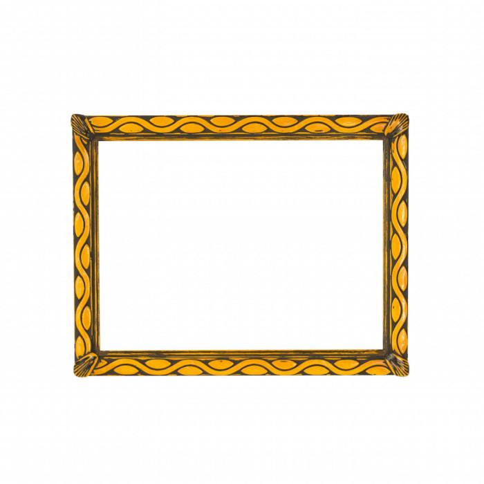 Cornice decorata, giallo acceso