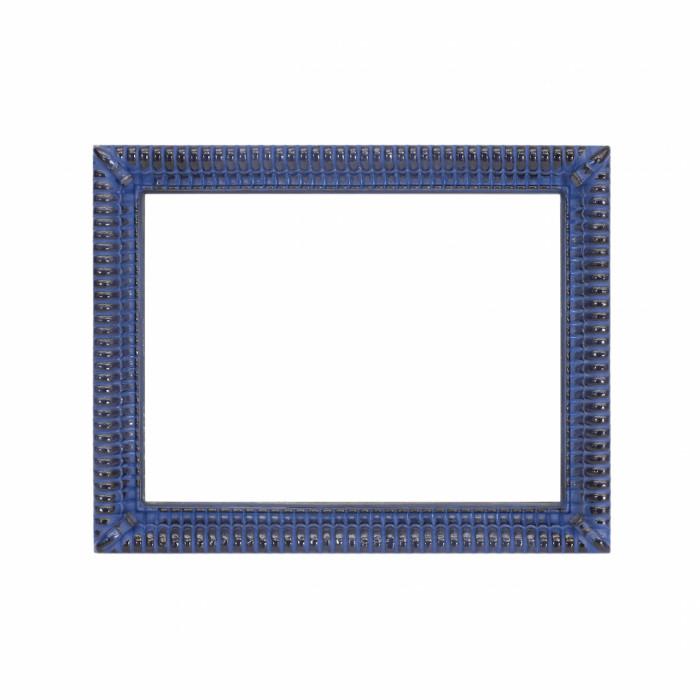 Cornice decorata con motivi geometrici, blu e nera