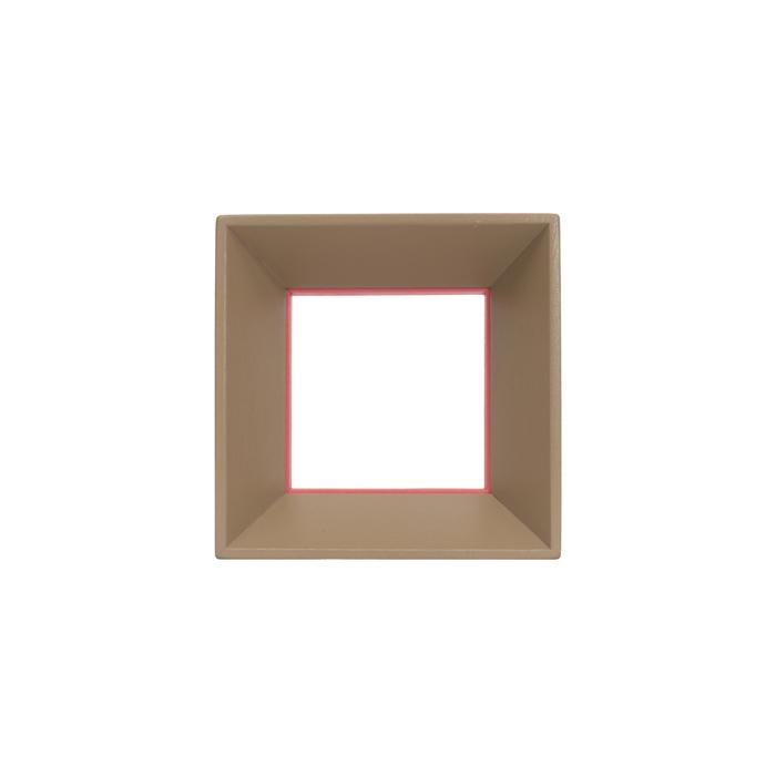 Cornice quadrata, khaki/fucsia